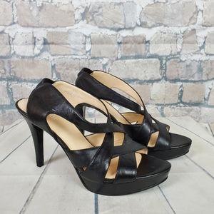 Nine West Shoes - Nine West Blakeley Platform Heels Black Leather 10